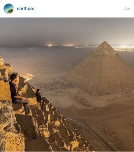 Sitting On The Pyramid, Egypt ~photography by Simon Vorkston