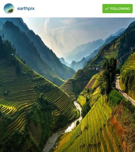 Rice terraces of Northeast Vietnam ~photography by Sarawut Intarob